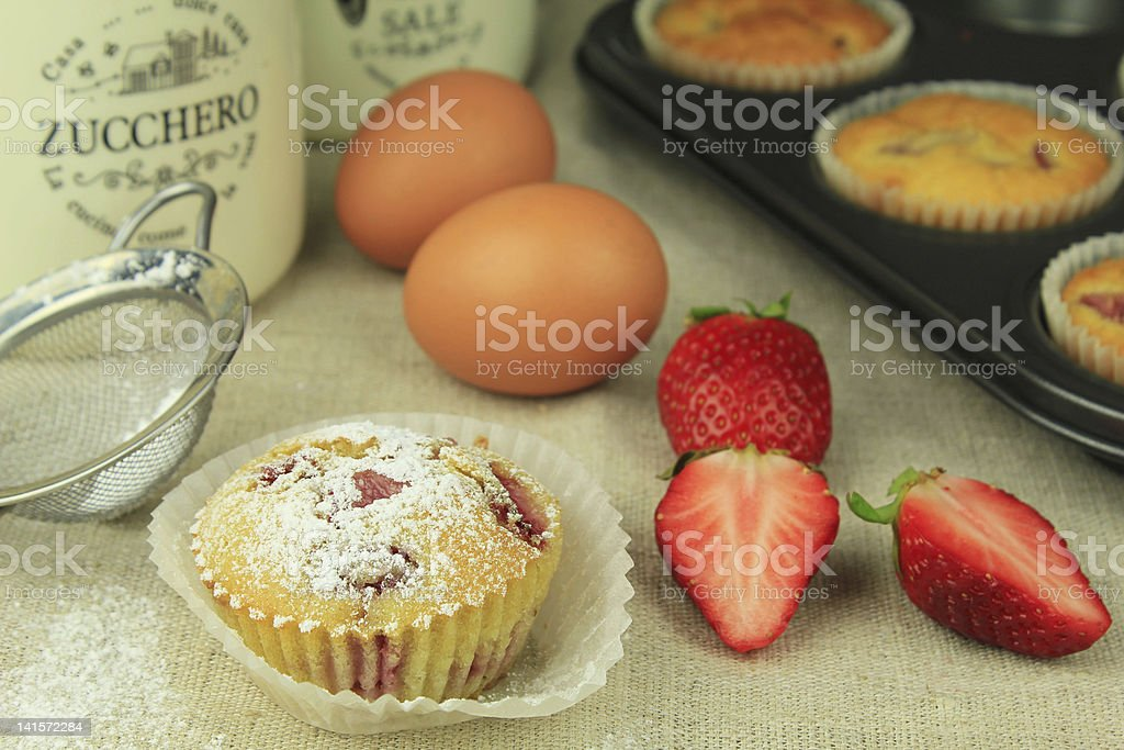 Homemade muffin royalty-free stock photo