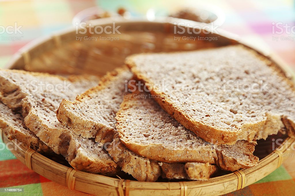 Homemade multiseed bread royalty-free stock photo