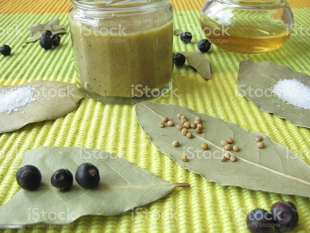 Home-made mustard royalty-free stock photo