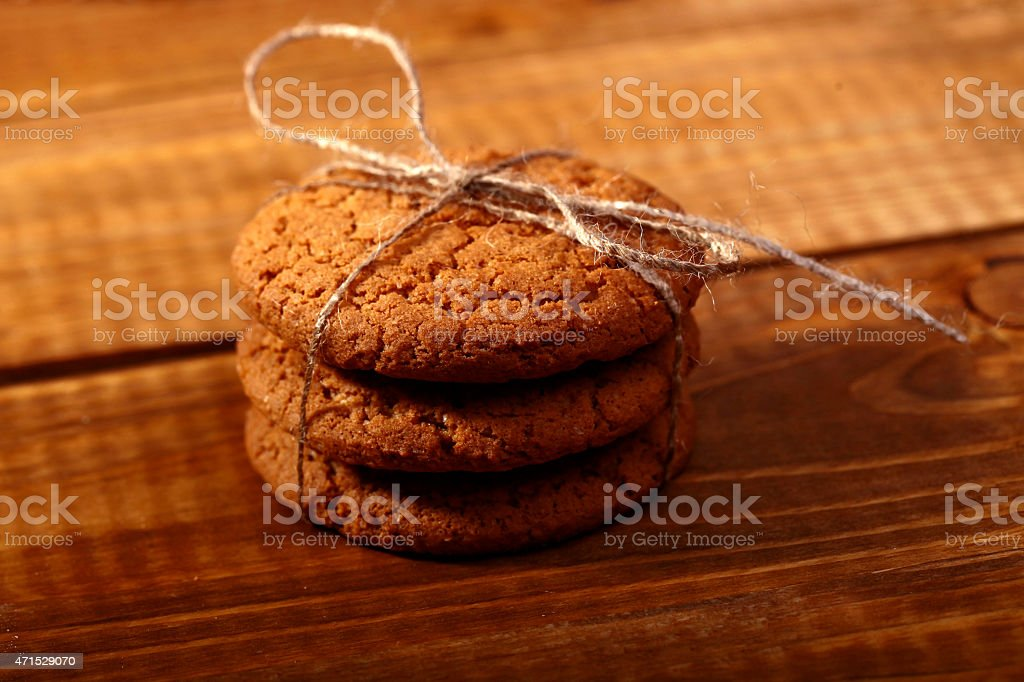 Homemade oatcakes stock photo