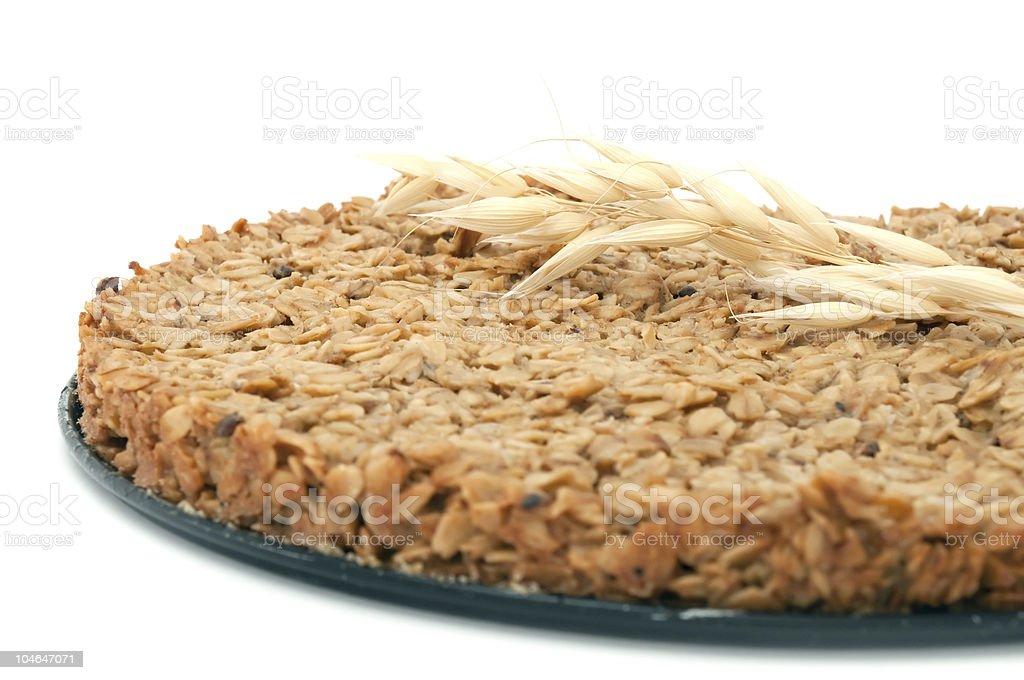 Homemade Oatmeal Cake royalty-free stock photo