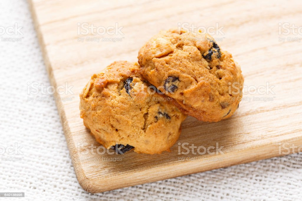Homemade oatmeal cookies stock photo