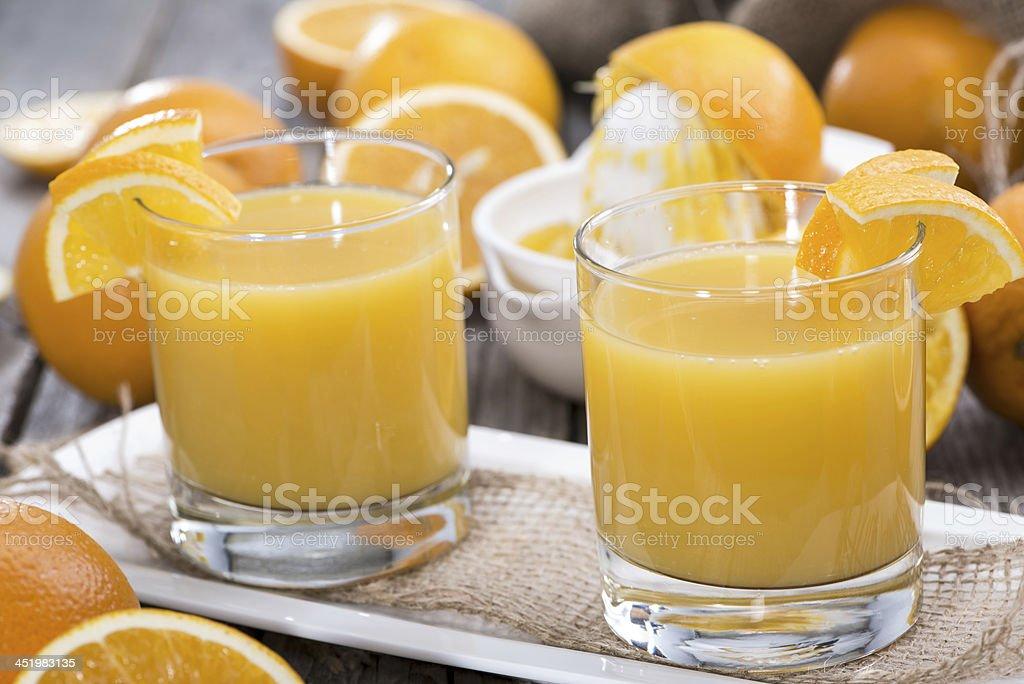 Homemade Orange Juice stock photo