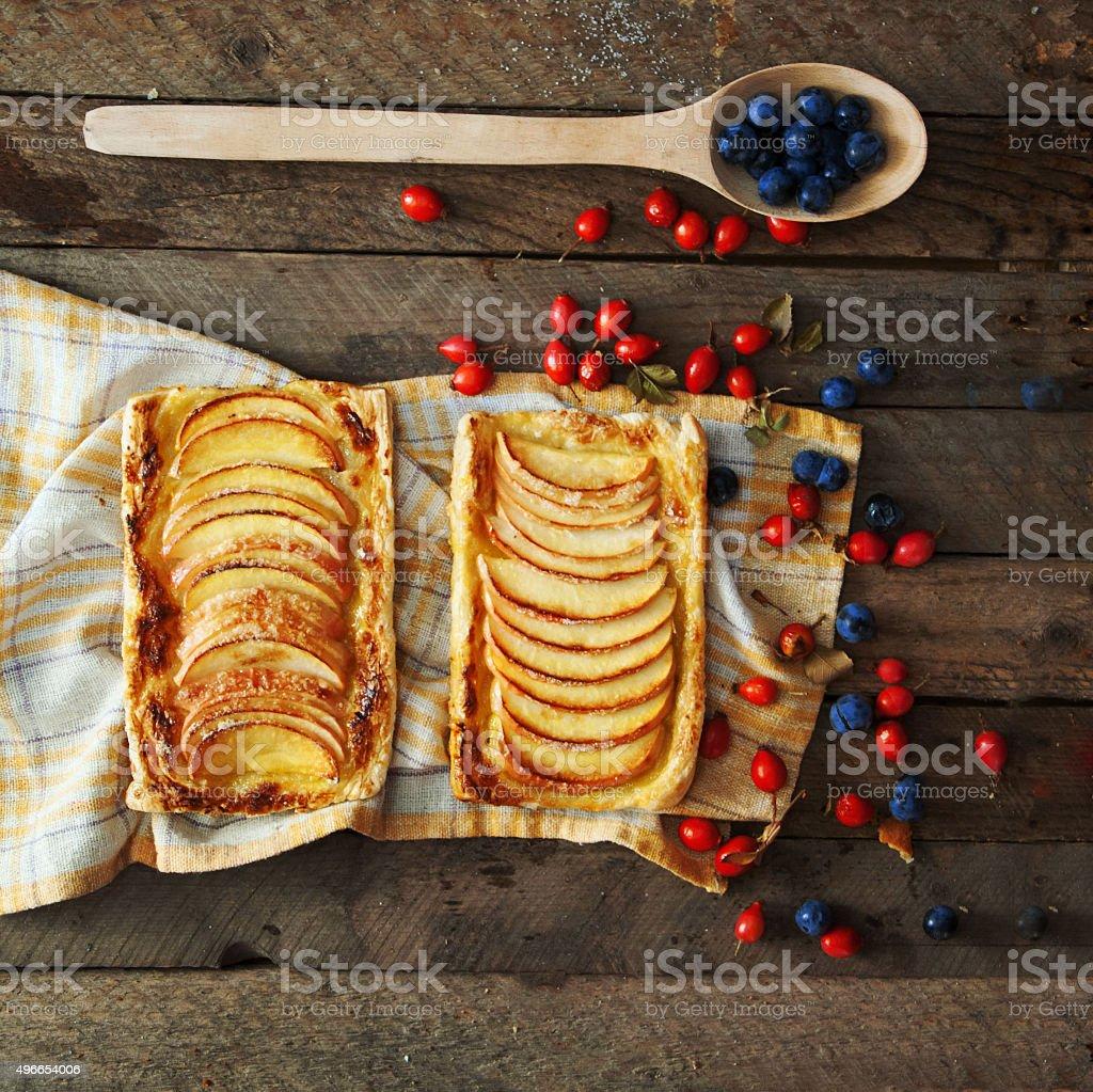 Homemade Organic Apple Pie Dessert royalty-free stock photo