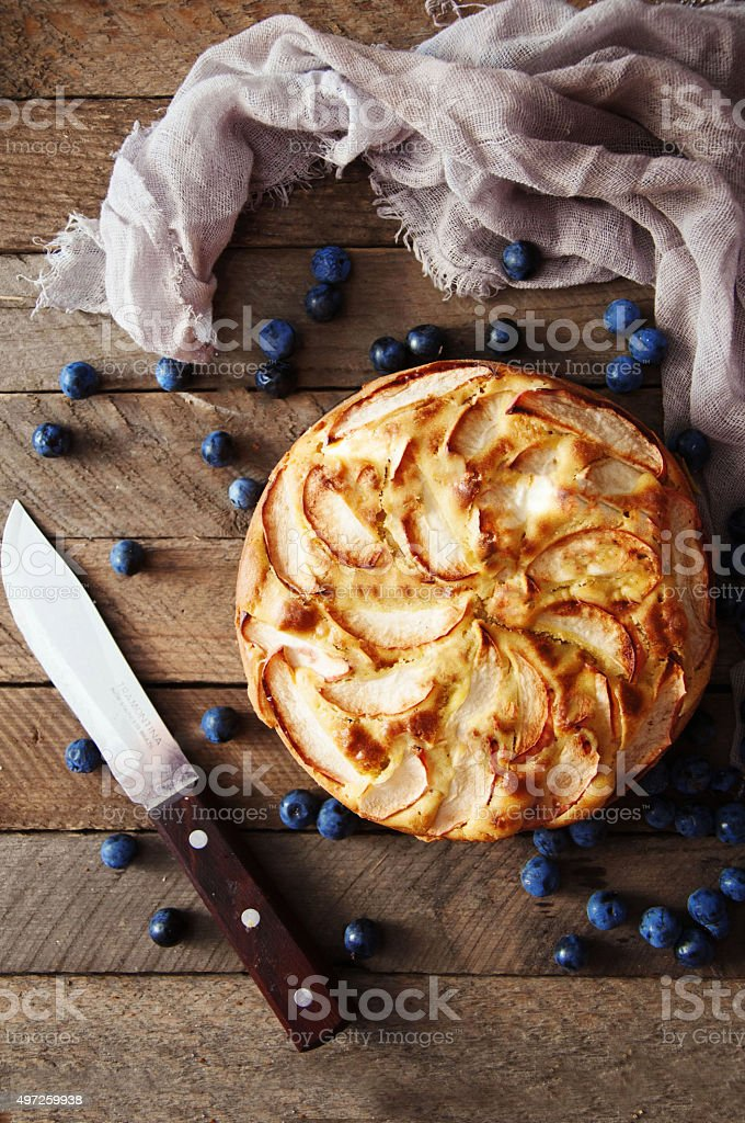 Homemade organic apple pie dessert ready to eat. royalty-free stock photo