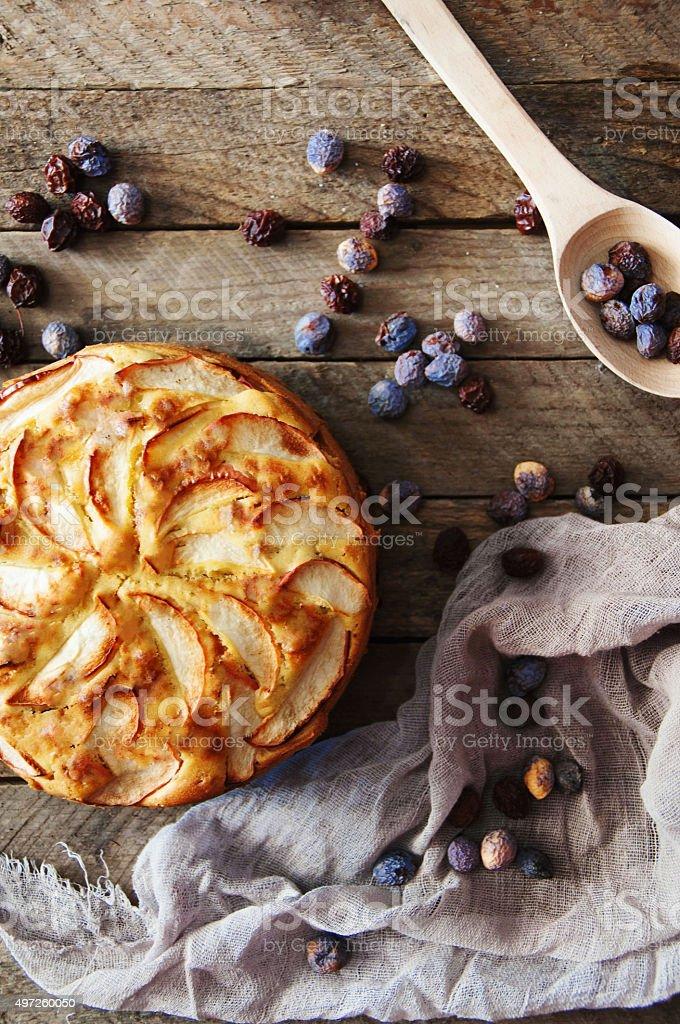 Homemade organic apple pie dessert ready to eat. royalty-free stock photo