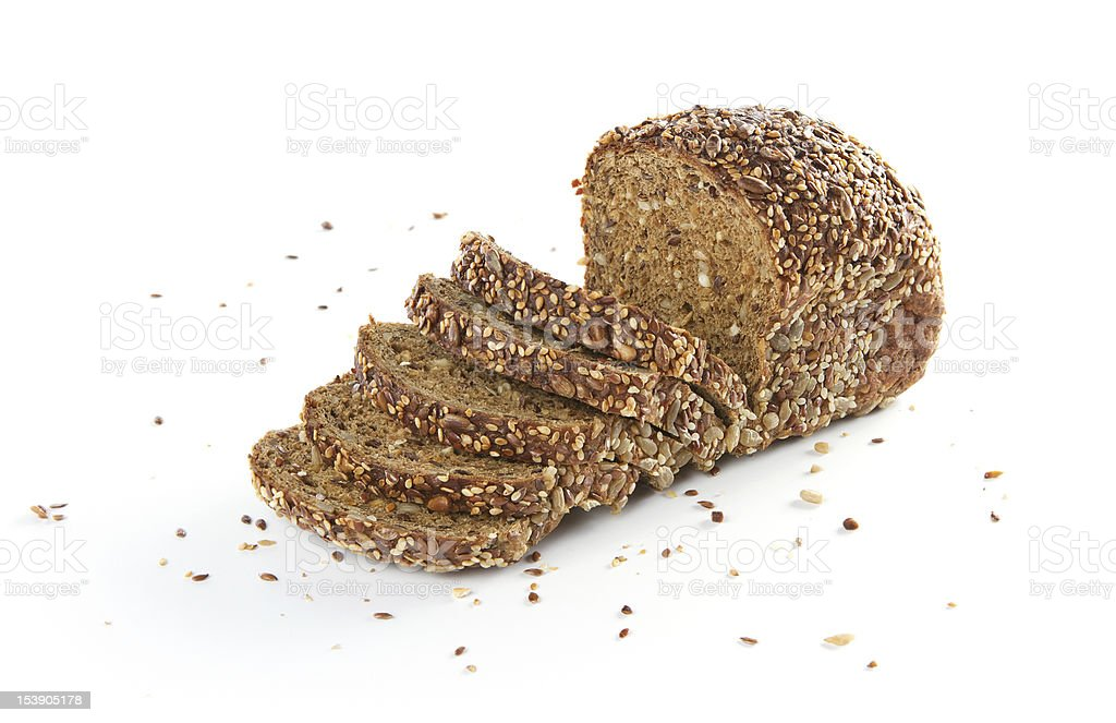 Homemade organic bread stock photo