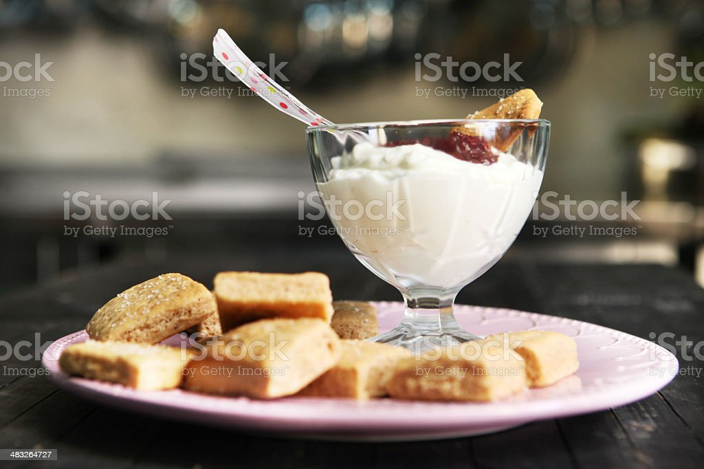 Homemade organic dessert royalty-free stock photo