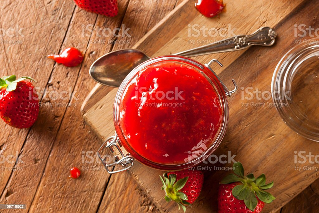 Homemade Organic Strawberry Jelly stock photo