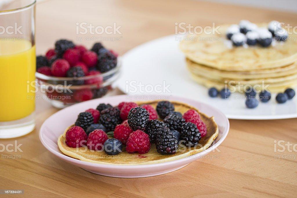 Homemade pancakes royalty-free stock photo