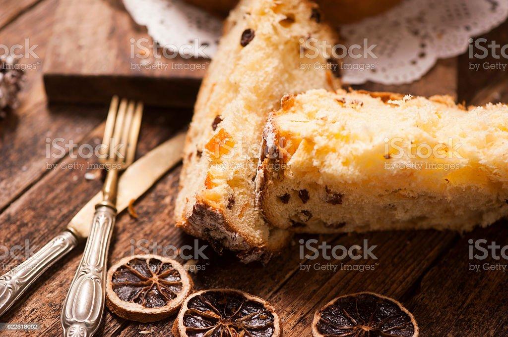 Homemade Panettone stock photo