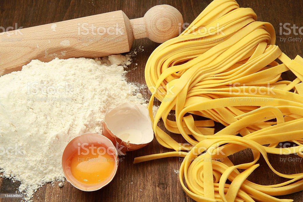homemade pasta stock photo