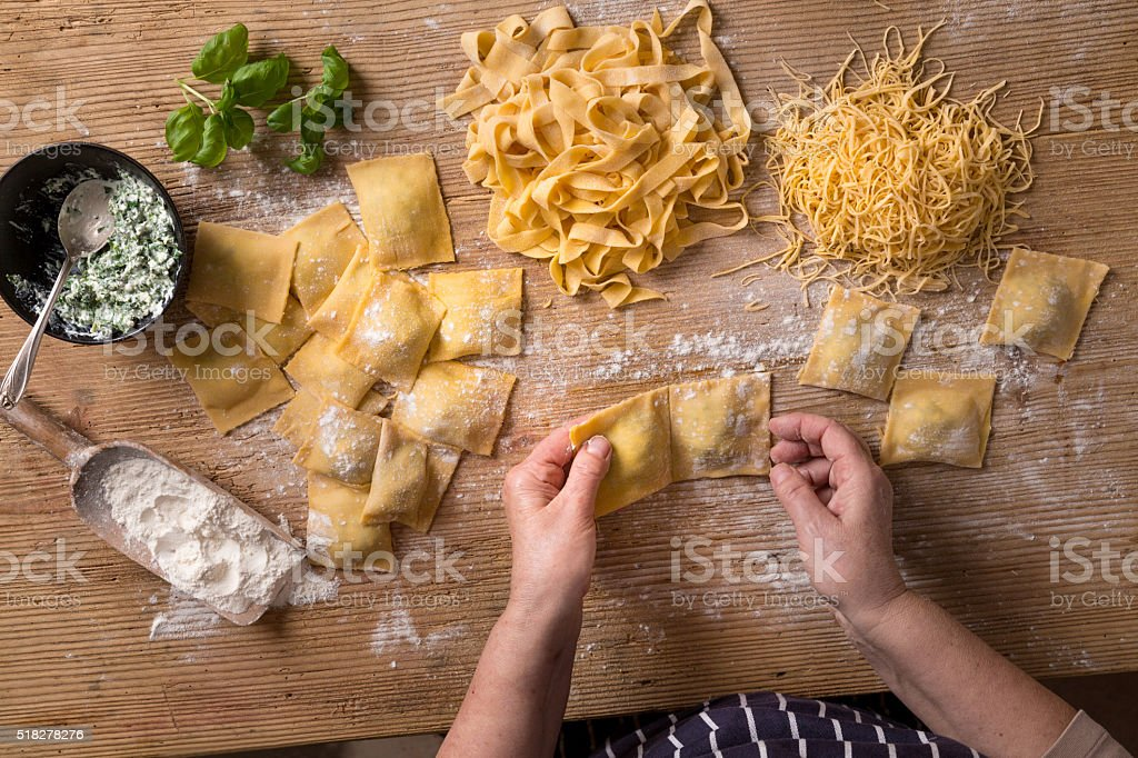 Homemade Pasta stock photo
