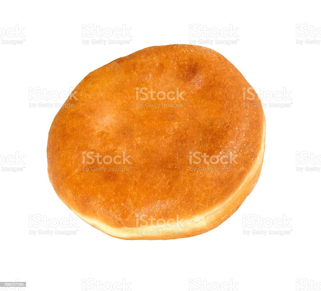 Homemade pasty isolated stock photo