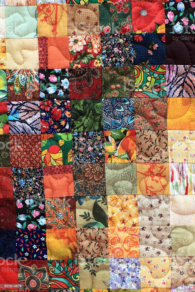 Homemade patchwork stock photo
