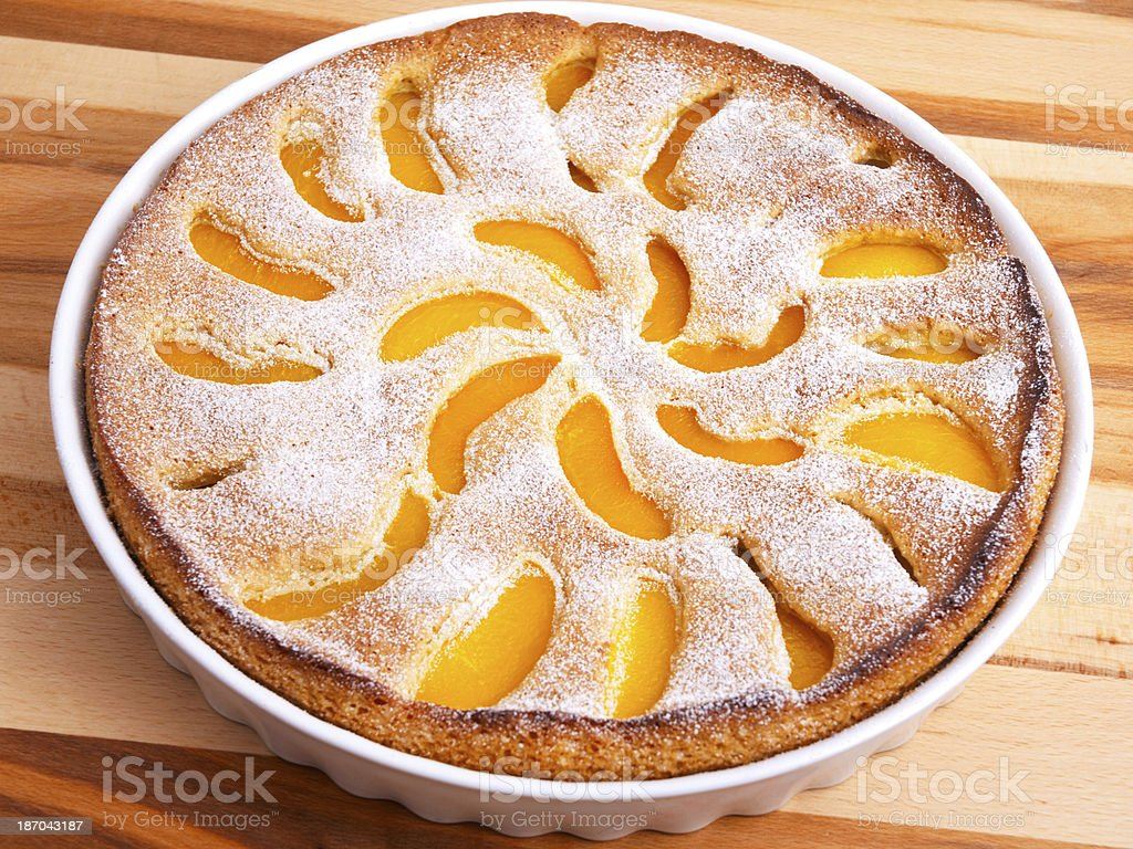 Homemade peach pie stock photo