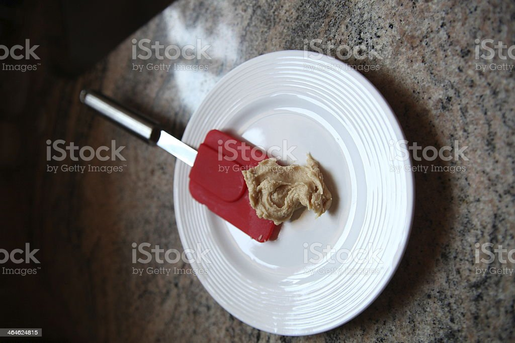 Homemade peanut butter frosting stock photo