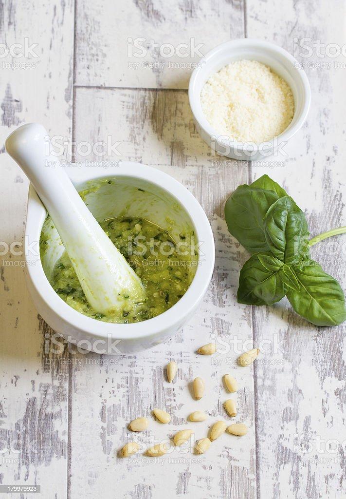 Homemade Pesto royalty-free stock photo