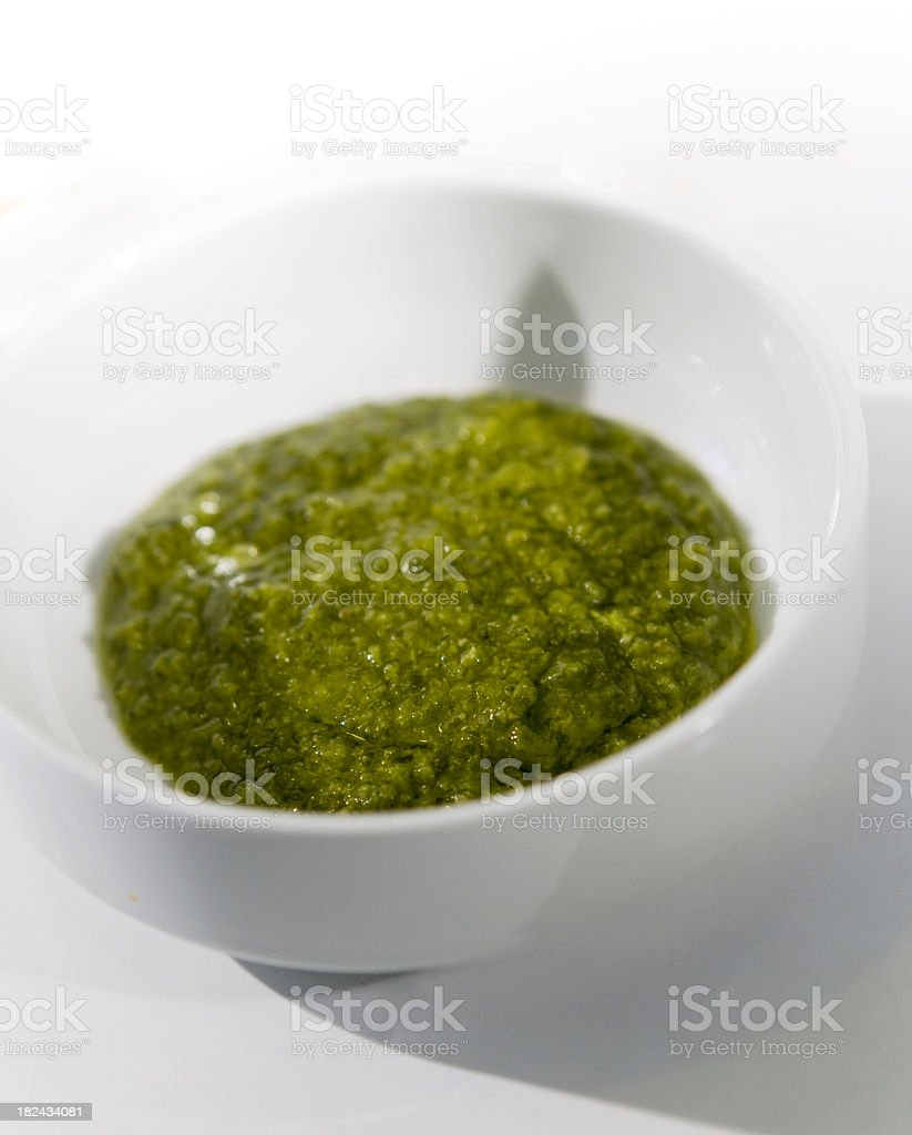 Homemade Pesto. royalty-free stock photo