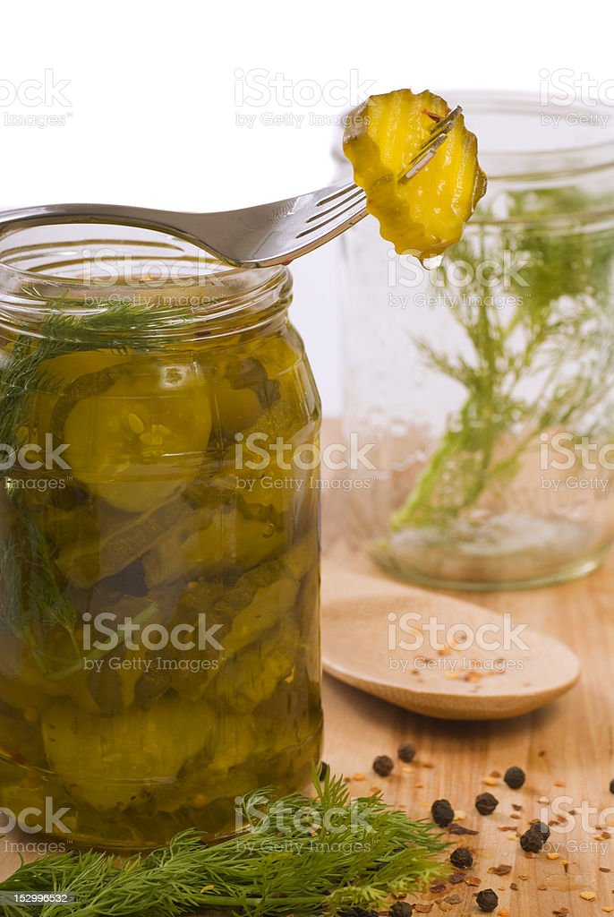 Homemade pickles royalty-free stock photo