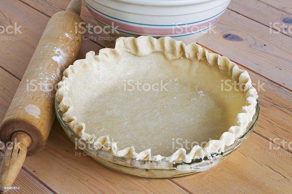 Homemade Pie Shell stock photo