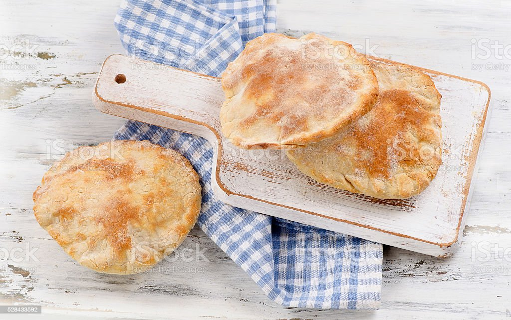 Homemade pita bread stock photo