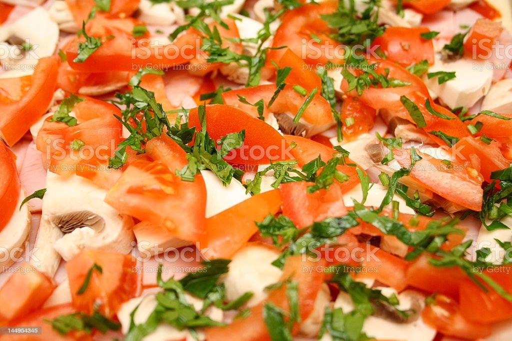 Home-made pizza non-cooked royalty-free stock photo