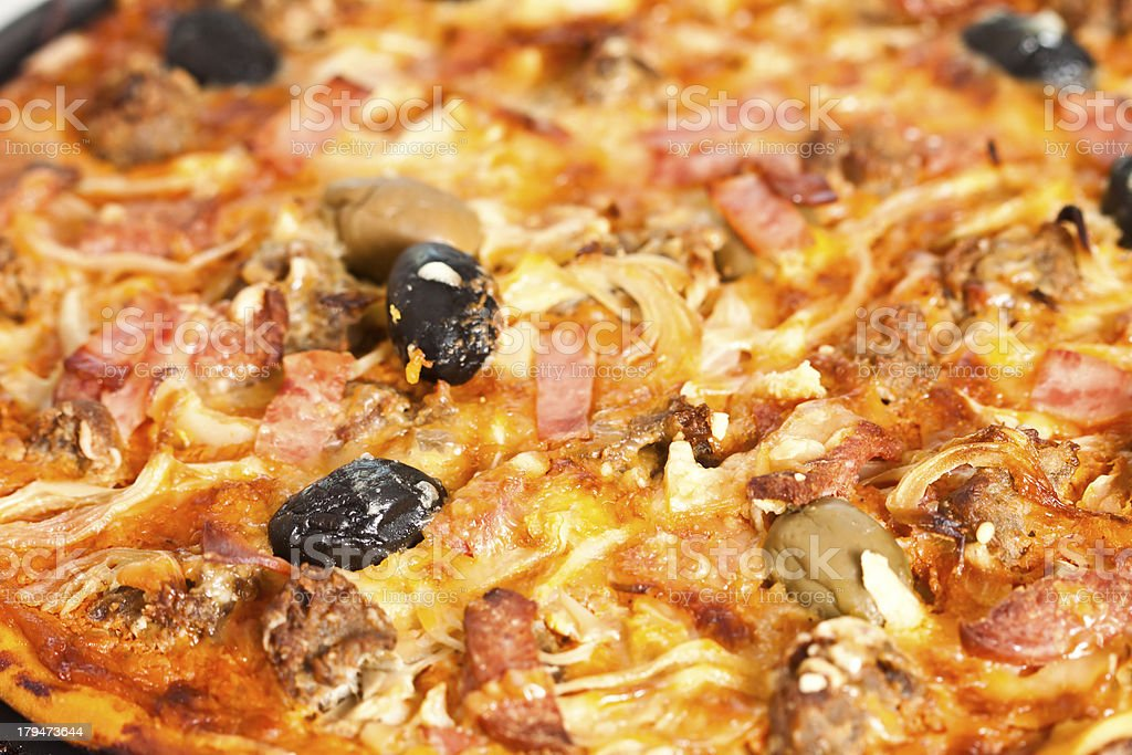 Homemade Pizza royalty-free stock photo