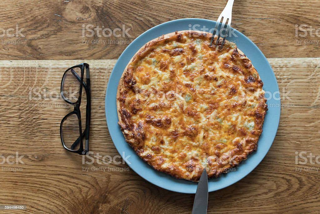 Homemade pizza stock photo