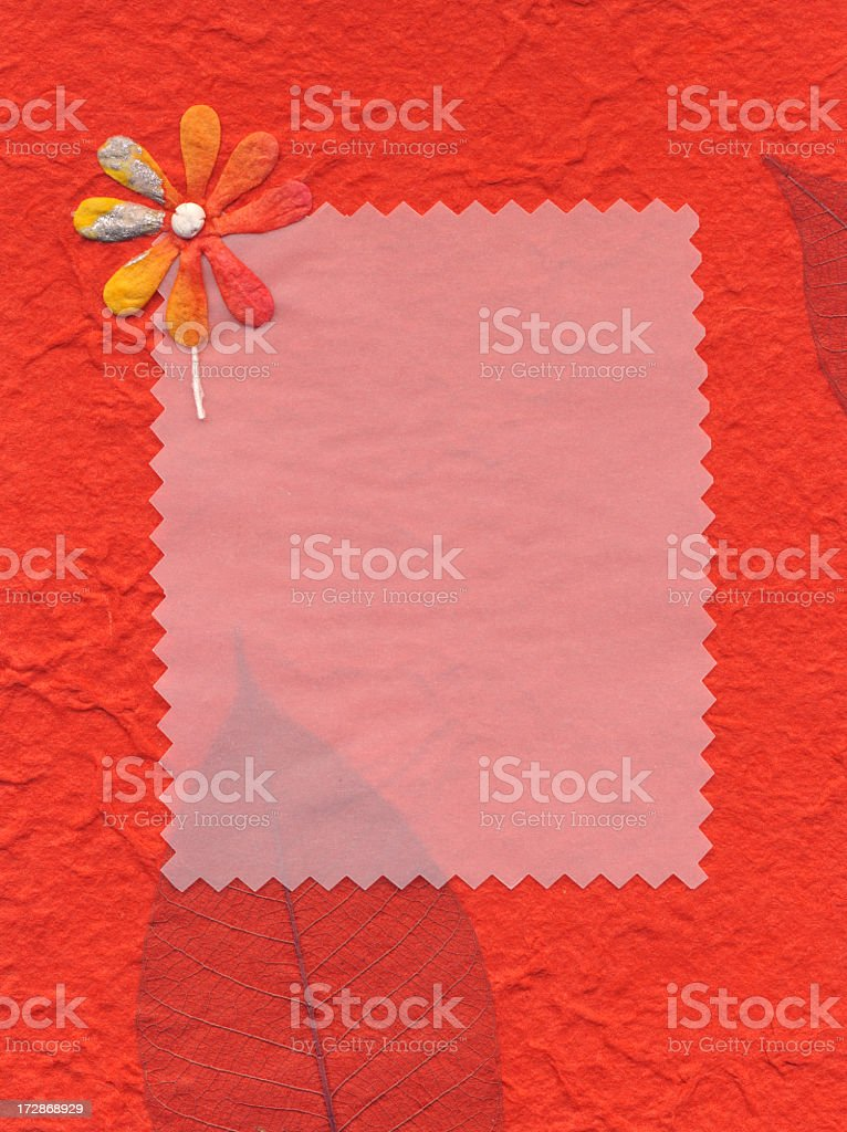Homemade Postcard stock photo