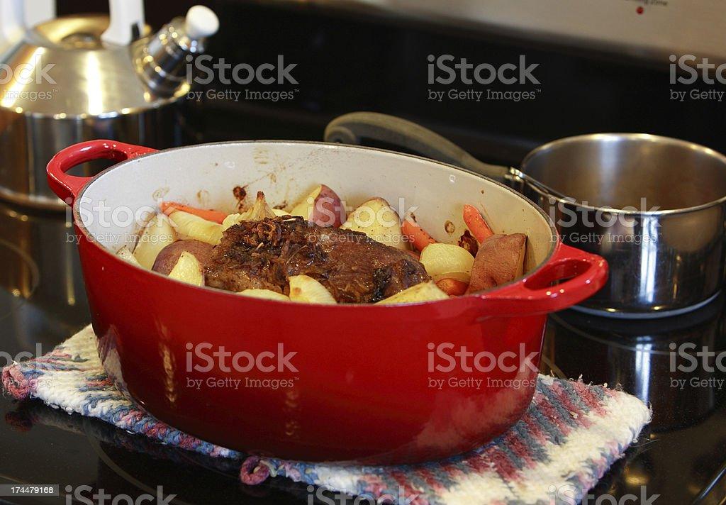 homemade pot roast royalty-free stock photo