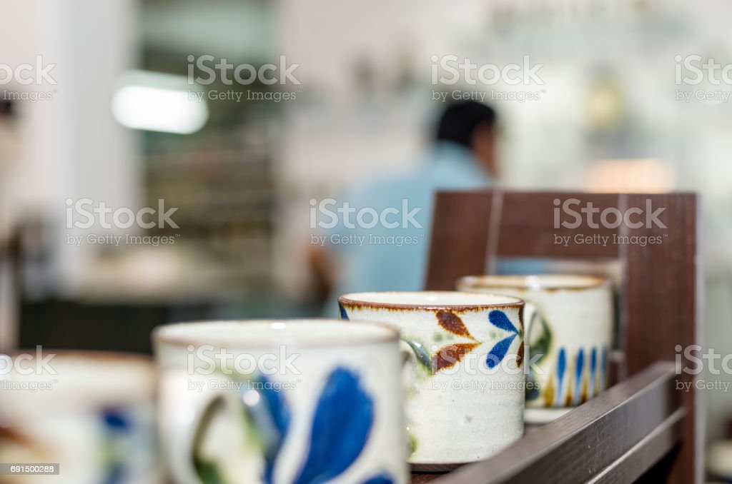 Homemade Pottery shop stock photo