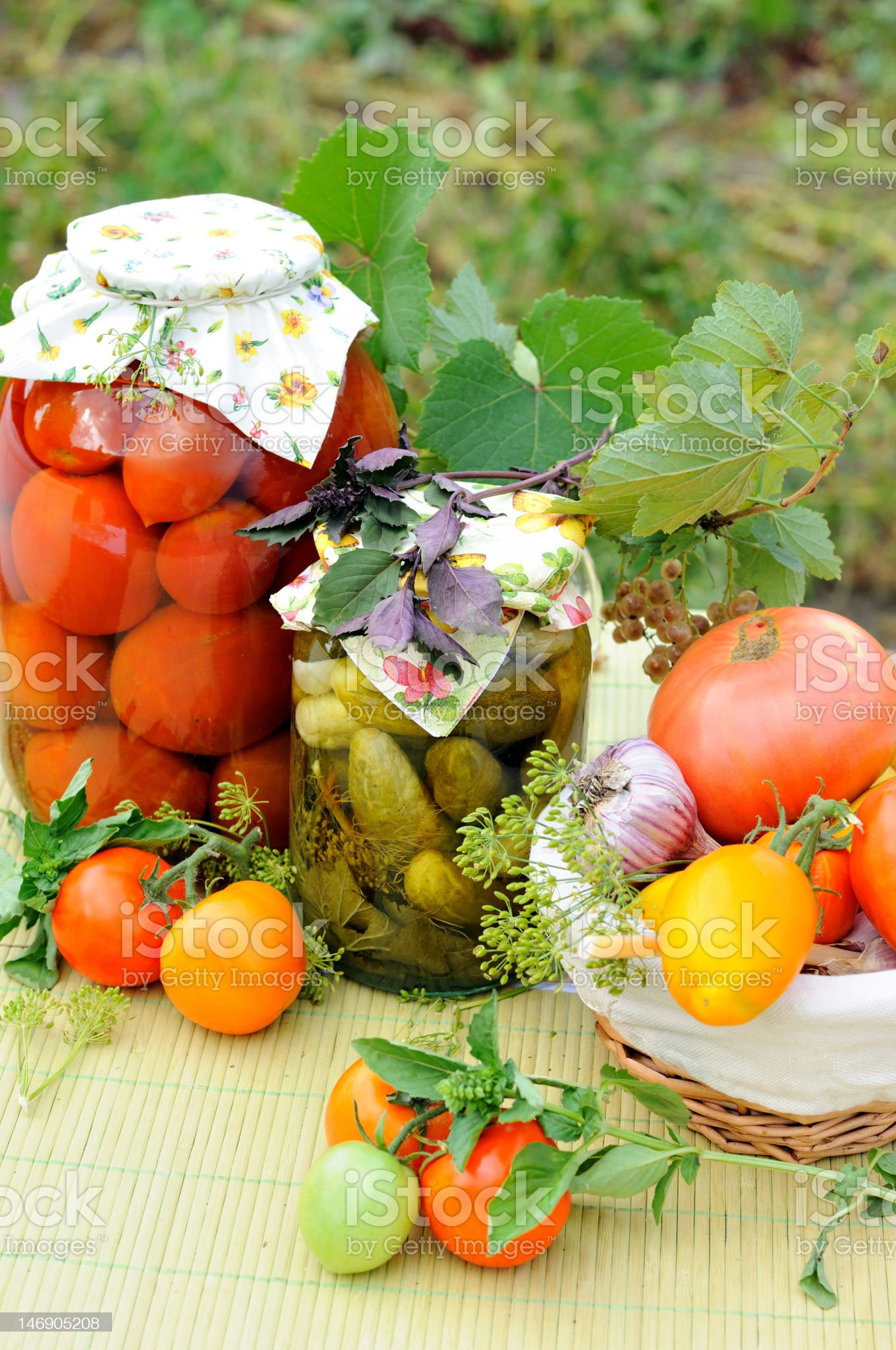 Homemade preserves royalty-free stock photo
