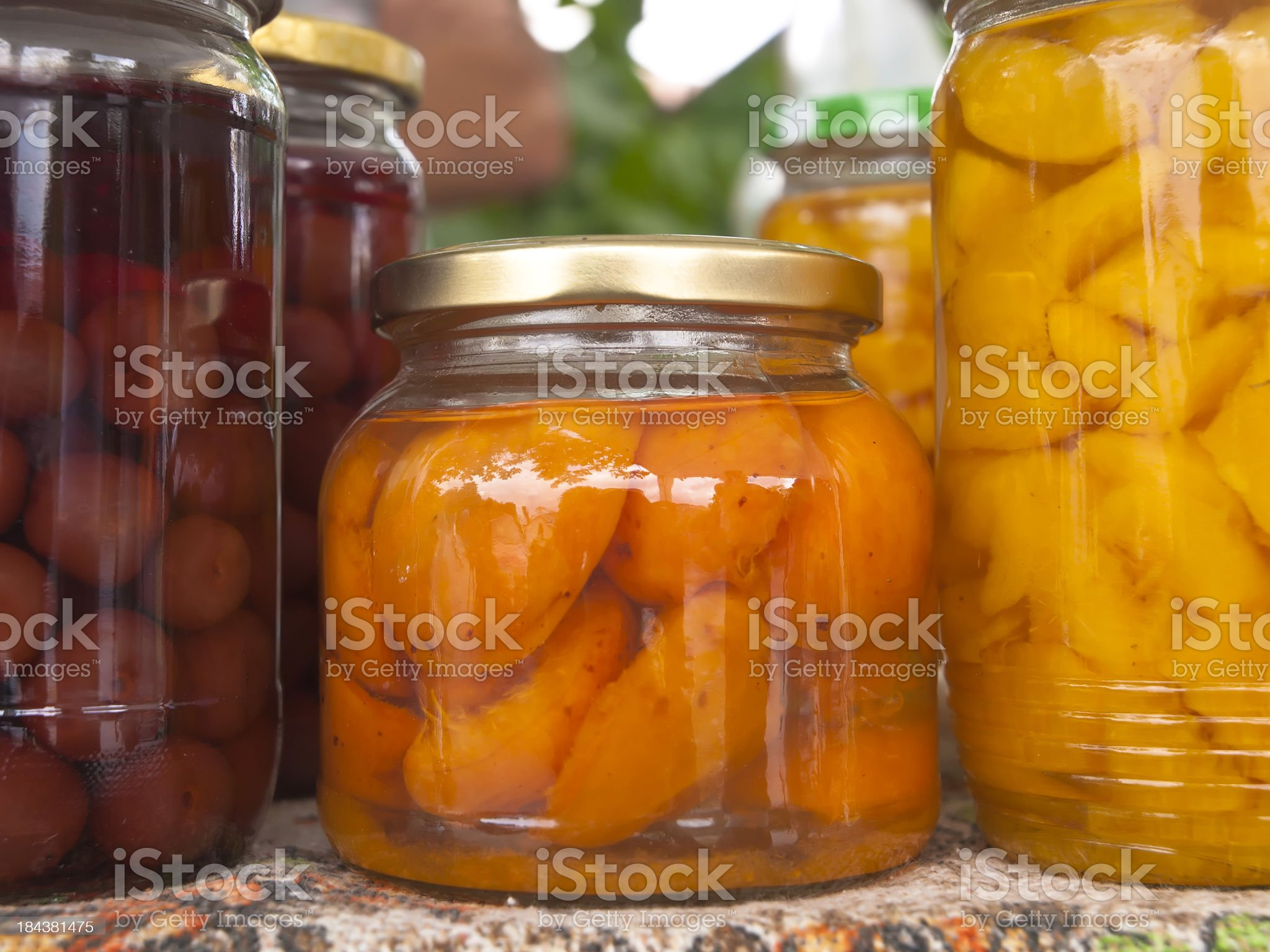 home-made preserves royalty-free stock photo
