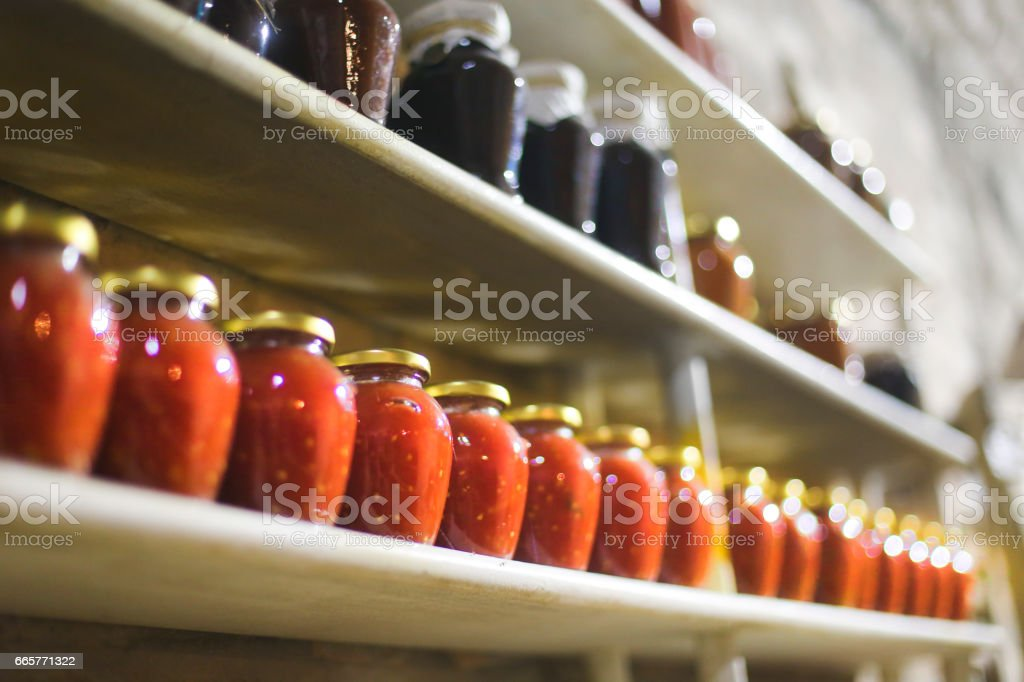 Homemade preserves stock photo