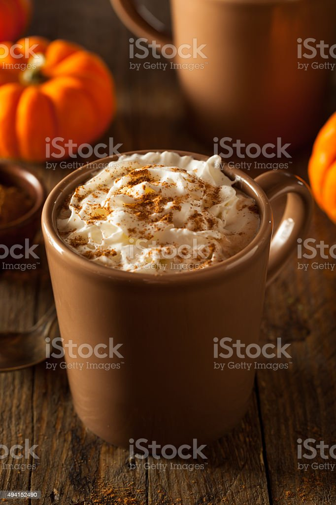Homemade Pumpkin Spice Latte stock photo