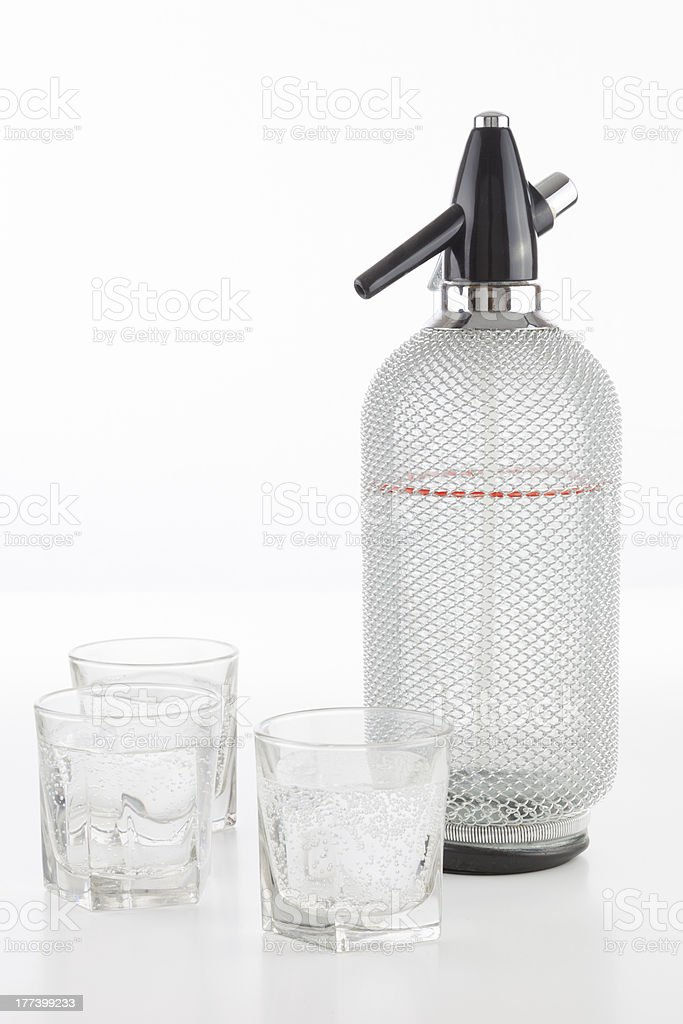 Home-made refreshing sparkling water royalty-free stock photo