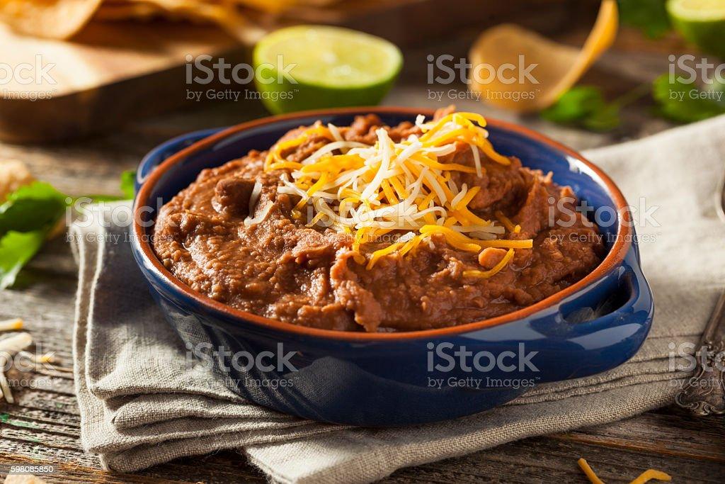 Homemade Refried Pinto Beans stock photo