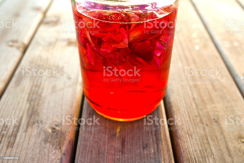 homemade rose aroma stock photo