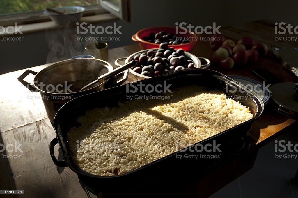 Homemade rural rice pudding royalty-free stock photo