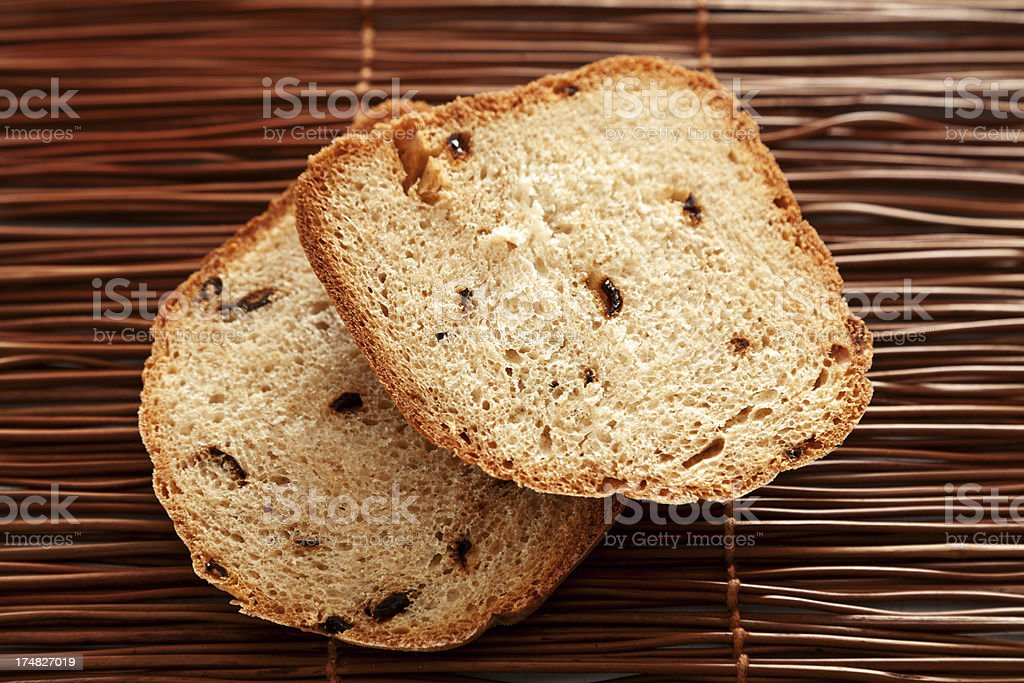 Homemade rye bread wtih dried peppers royalty-free stock photo