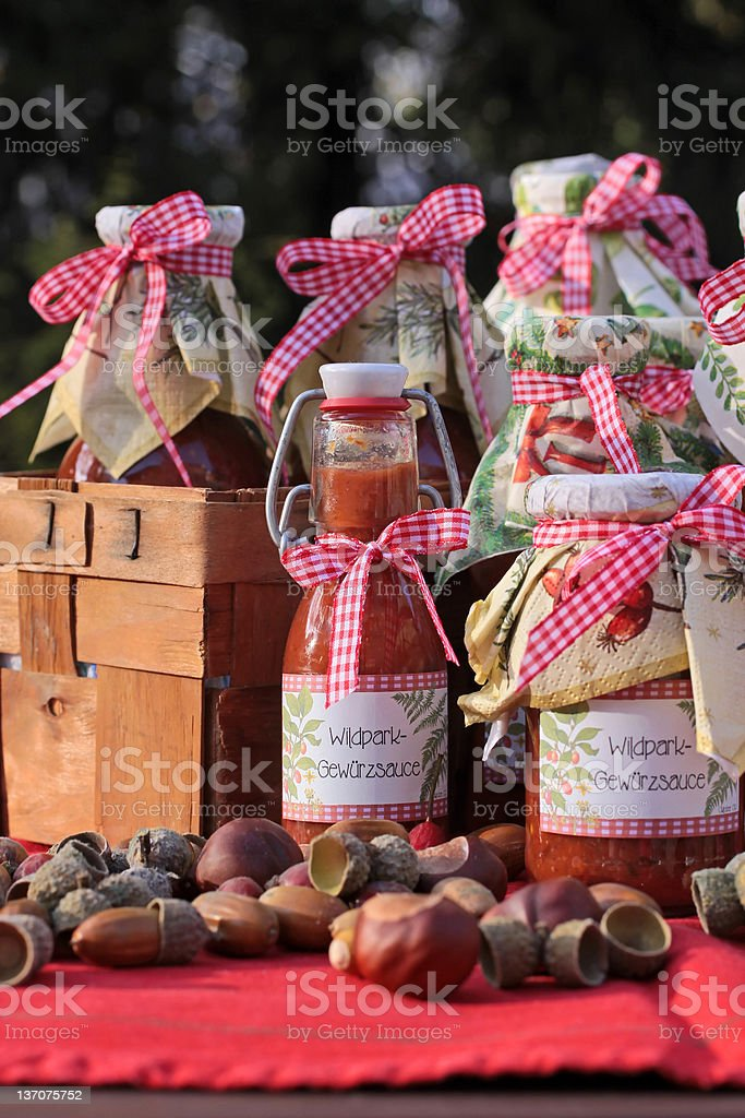 Homemade Sauces royalty-free stock photo