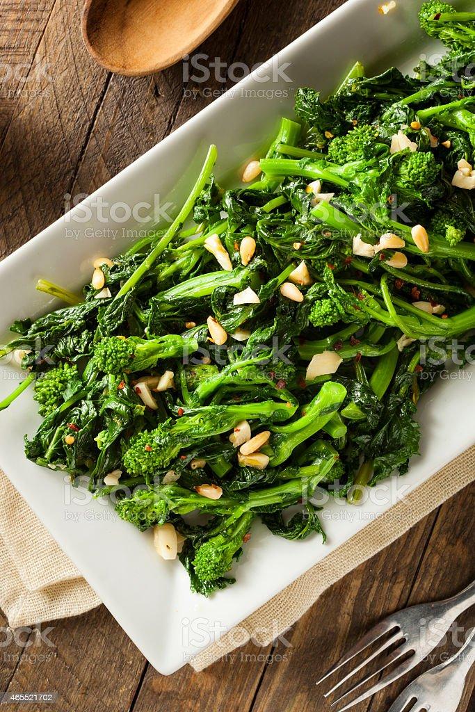 Homemade Sauteed Green Broccoli Rabe stock photo