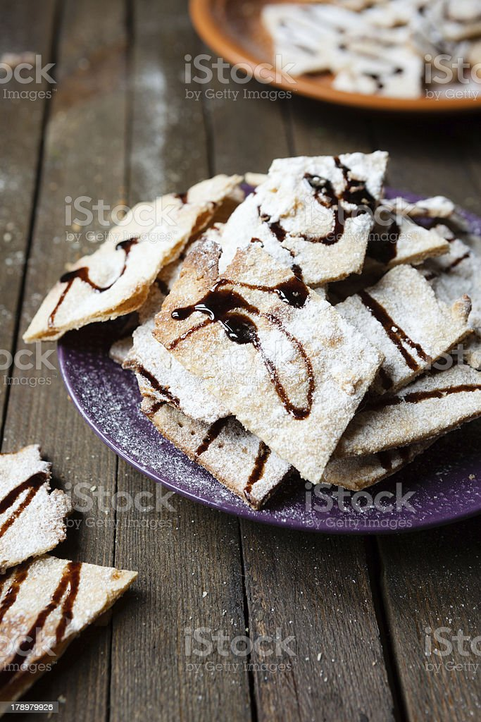 homemade shortbread cookies with chocolate royalty-free stock photo