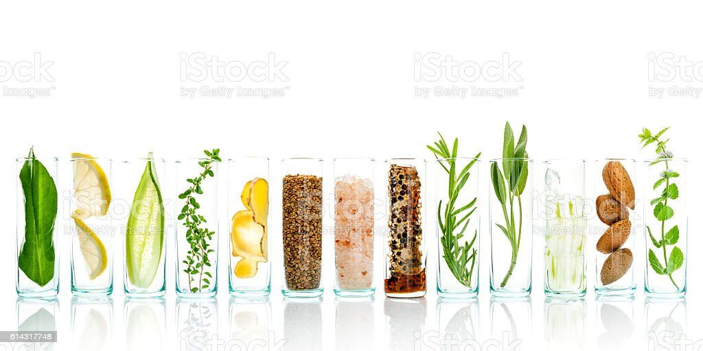 Homemade skin care and body scrubs with natural ingredients. stock photo