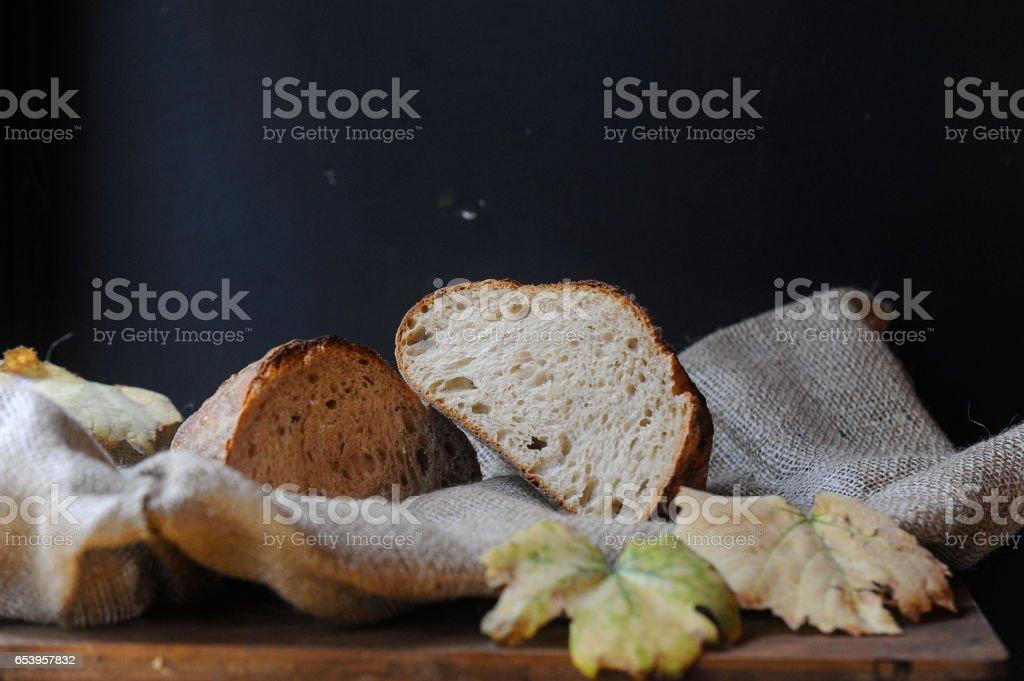 Homemade Sourdough bread stock photo