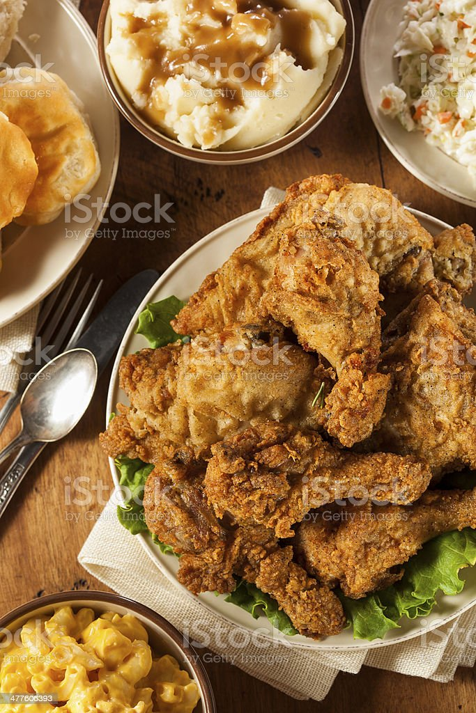 Homemade Southern Fried Chicken stock photo
