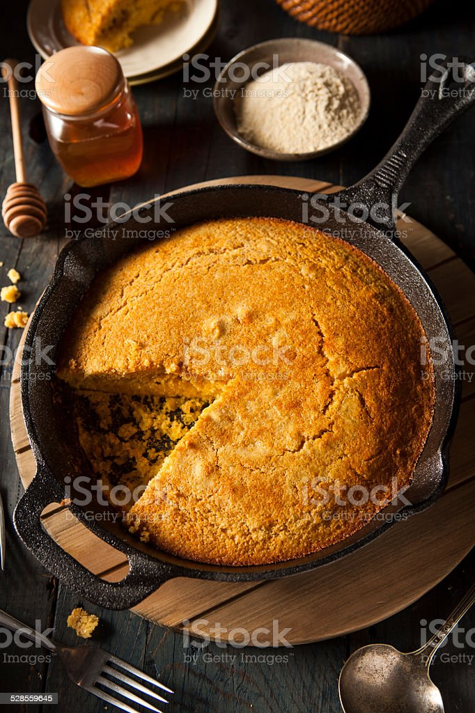 Homemade Southern Style Cornbread stock photo