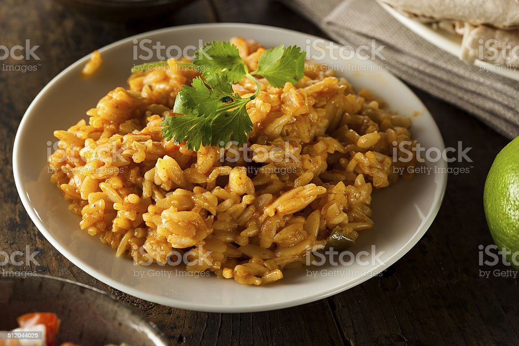Homemade Spicy Mexican Rice stock photo