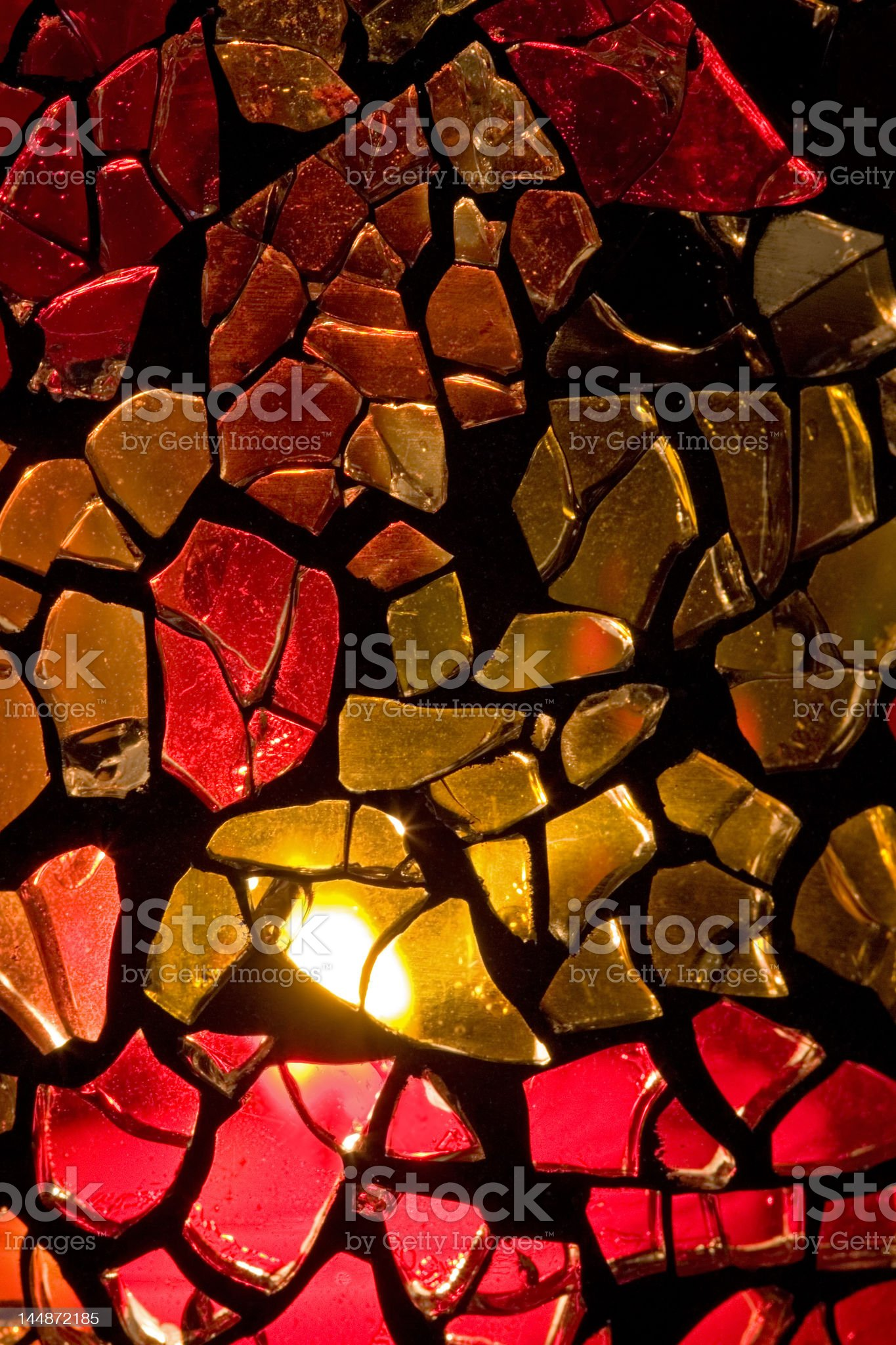 Homemade Stained Glass Vase royalty-free stock photo